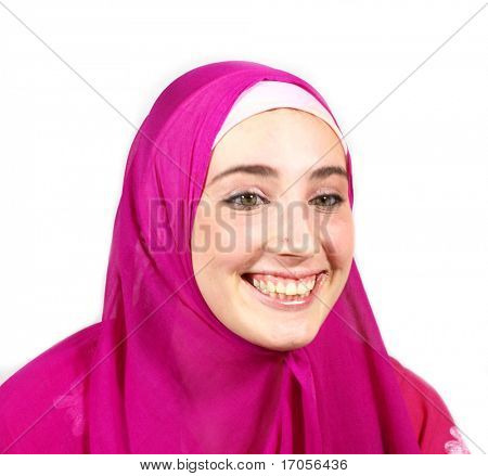 young pretty arabic girl smile