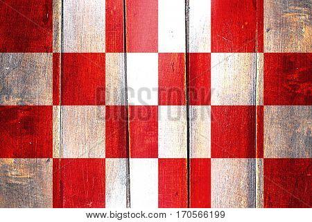 Vintage North Brabant, noord brabant flag on grunge wooden panel