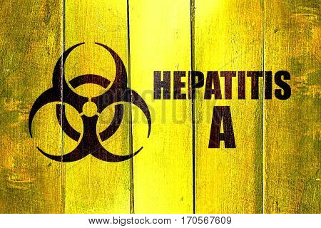 Vintage Hepatitis A on a grunge wooden panel