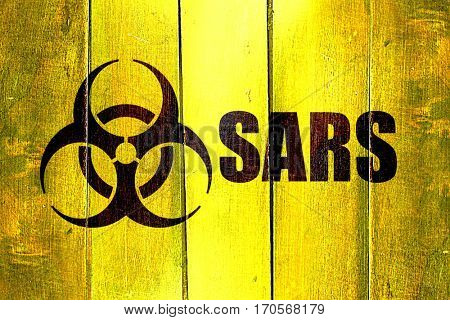 Vintage Sars on a grunge wooden panel