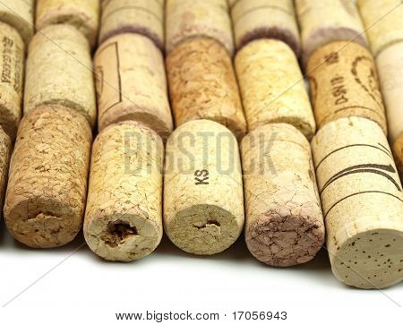 Collection of vine corks