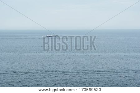 Hydrofoil on Lake Baikal. Floats far and fast. Photographed in minimalist form. snimaka Resolution allows to increase it to the required size.