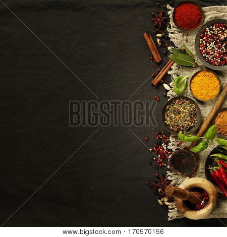 Fresh delicious ingredients for healthy cooking  on rustic background, top view. Diet, cooking, clean eating or vegetarian food concept.