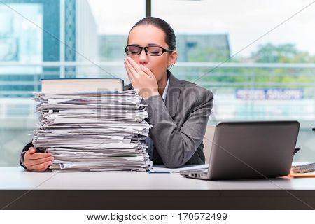 Young businesswoman working in the office