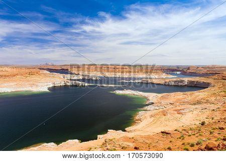 Lake Powell in Glen Canyon National Recreation Area. Arizona, USA