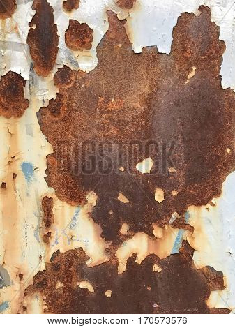 Photo closeup of old rusty grunge steel
