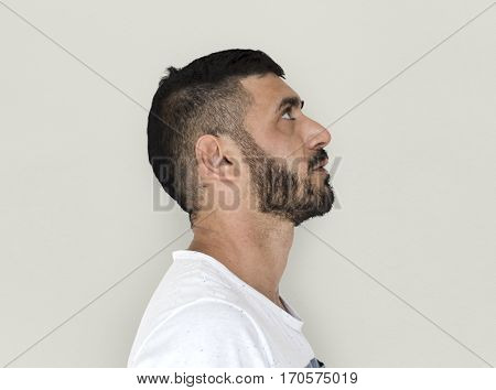 Adult Caucasian Male Side View