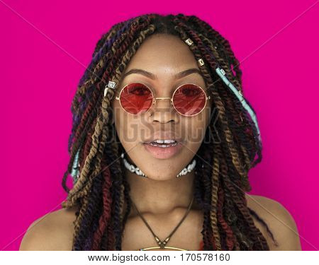African Descent Female Dreadlock Hipster