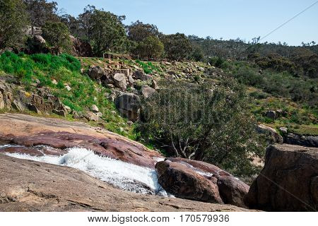 A View From Top Of National Park Falls Plateau In John Forrest National Park