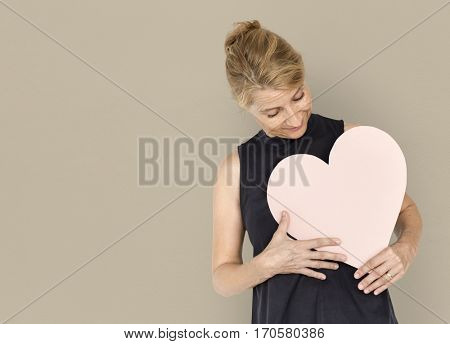 Heart Love Adore Affection Blonde Woman
