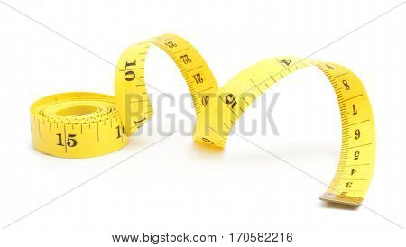 measuring tape of the tailor for you design isolated