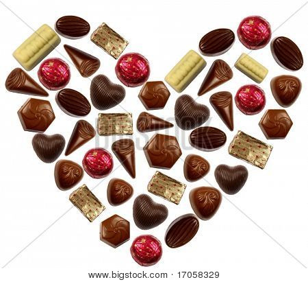 chocolate bonbons heart