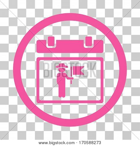 National Holiday Day rounded icon. Vector illustration style is a flat iconic symbol inside a circle, pink color, transparent background. Designed for web and software interfaces.