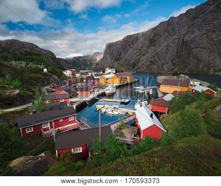 Nusfjord is one of the many fishing village in Lofoten Norway