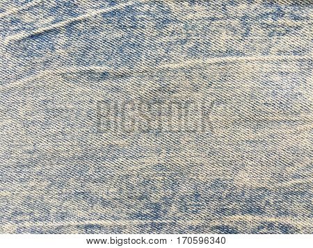 Blue jeans denim fabric background and texture