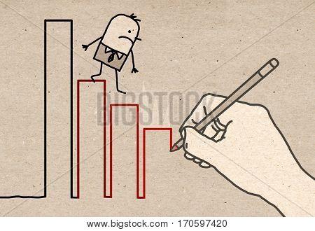 Big Hand - climbing down