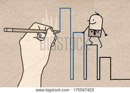 Big Hand - climbing up