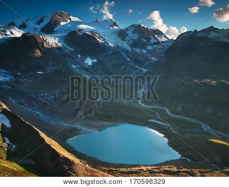 Various natural and mountain scenes in Switzerland