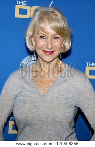 Helen Mirren at the 69th Annual Directors Guild Of America Awards held at the Beverly Hilton Hotel in Beverly Hills, USA on February 4, 2017.