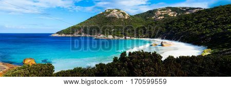 A popular tourist destination near Albany is Little Beach in Two Peoples Bay located in the south west region of Western Australia, Australia.