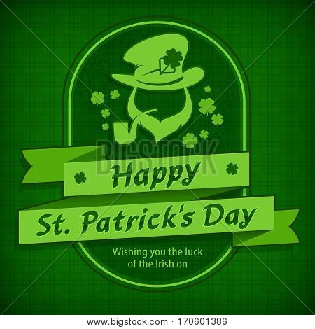 Leprechaun Template In Green & Text