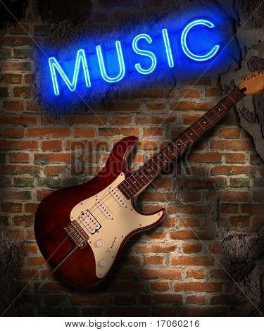 Music background in grunge style