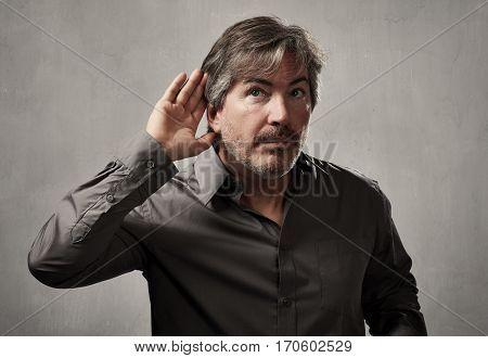 listening man.