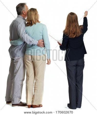 Senior couple broker.