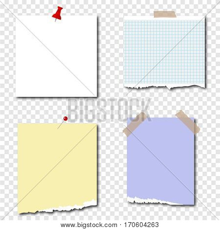 Pieces of paper, tear off the paper. Flat design, vector illustration, vector.