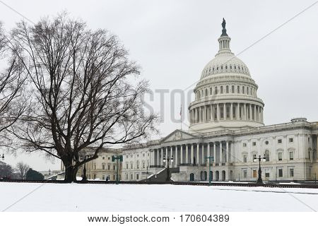Washington DC in winter - The United States Capitol Building