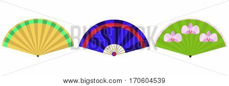 Fan, the fan icon. Flat design, vector illustration, vector.