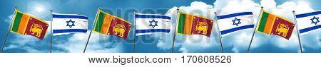 Sri lanka flag with Israel flag, 3D rendering