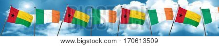 Guinea bissau flag with Ireland flag, 3D rendering