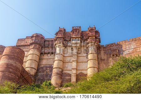 Turrets On The Mehrangarh Fort