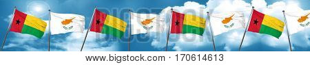 Guinea bissau flag with Cyprus flag, 3D rendering