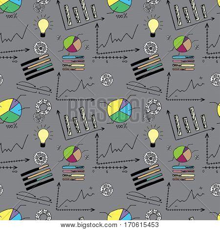 Doodle Finance Seamless Pattern