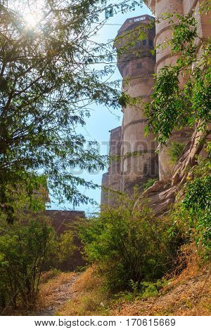 Pathway Near Mehrangarh Fort