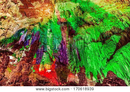 Furong Cave in Wulong Karst National Geology Park China is the World Natural Heritage place it was named one of The Three Greatest Caves in the World