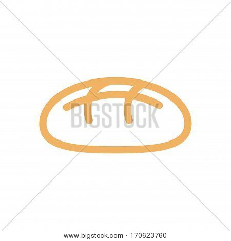 Bread Line Style. Bakery Icon. Bakeshop Sign Isolated. Food Symbol