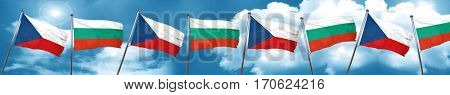 czechoslovakia flag with Bulgaria flag, 3D rendering