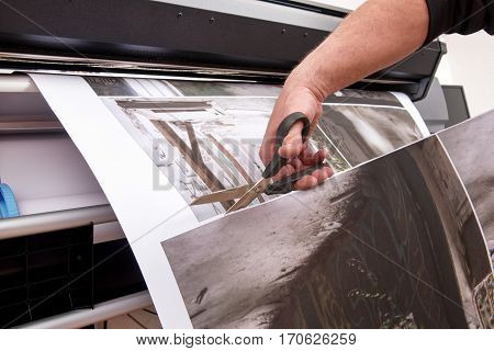 Cutting Printed Pictures With Scissors