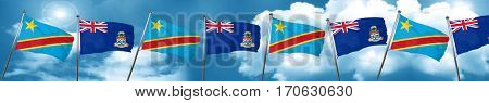 Democratic republic of the congo flag with Cayman islands flag,