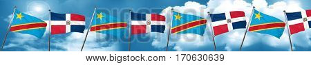Democratic republic of the congo flag with Dominican Republic fl