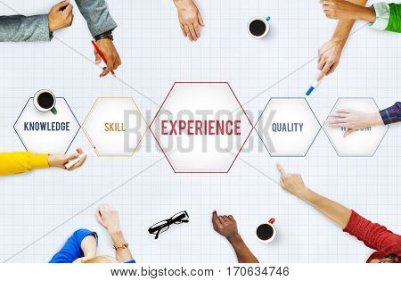 Experience Knowledge Skill Wisdom Intelligence Concept
