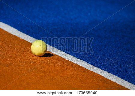 Grass Hockey ball and field detail