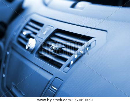 Modern car interior, macro shot, low depth of focus