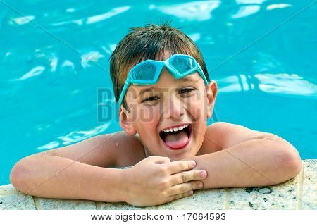 Laughing In The Swimming Pool