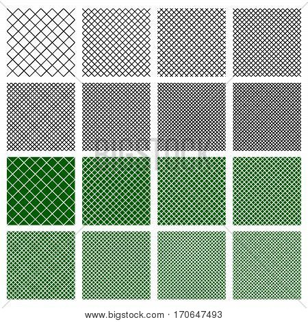 Set Of 8 Seamless Geometric Pattern Tiles With Different Density