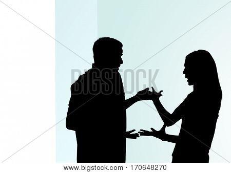 Digital composite of Digital composite of loving couple