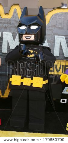 LOS ANGELES - FEB 4:  Lego Batman at the